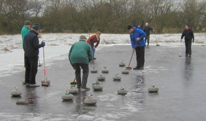 Picture of curling on Drumore Curling Pond 17KB